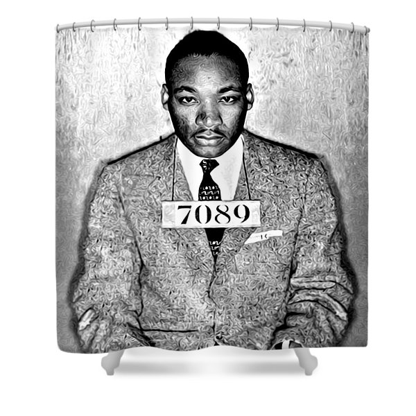 Martin Luther King Mugshot Shower Curtain