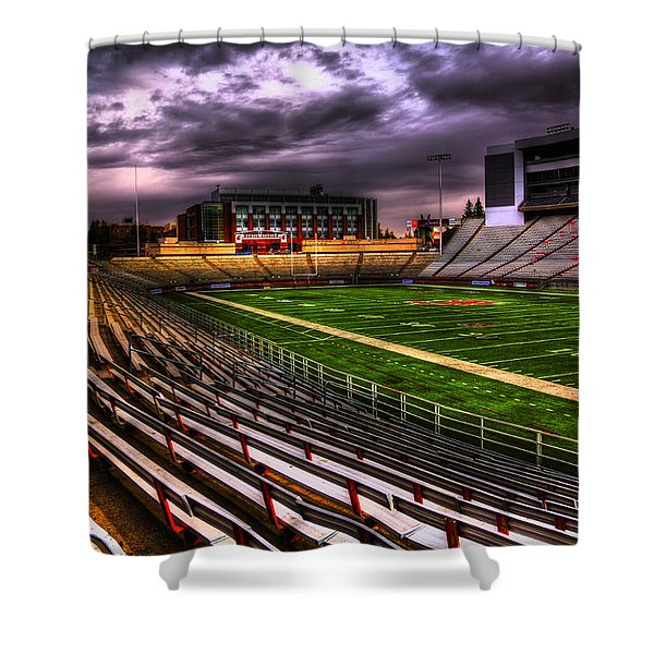 Martin Stadium - Home Of Wsu Football Shower Curtain