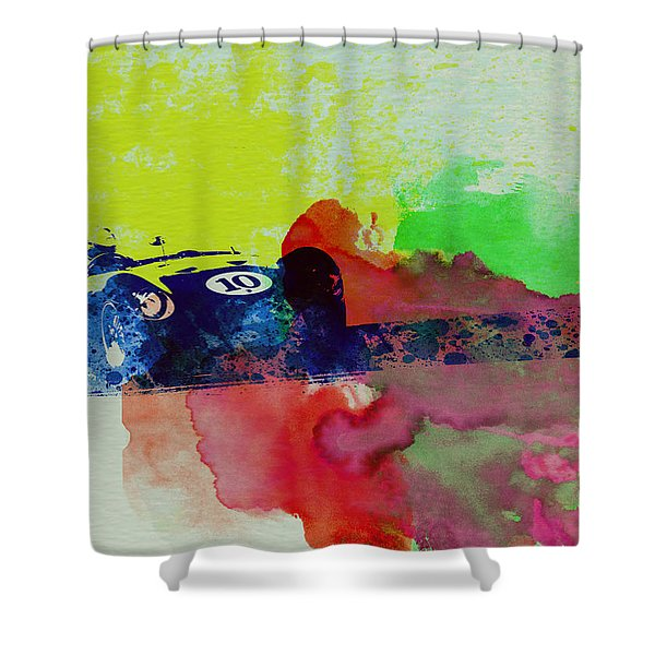 Maserati On The Race Track 2 Shower Curtain
