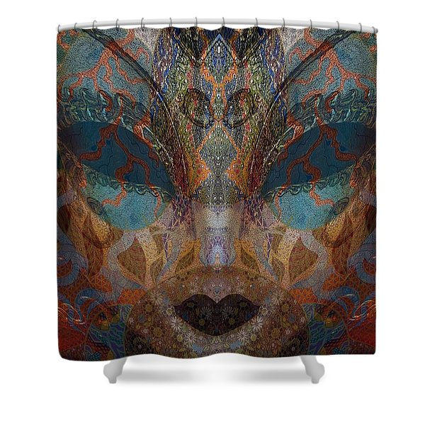 Mask 1 Shower Curtain