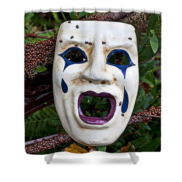 Mask And Ladybugs Shower Curtain