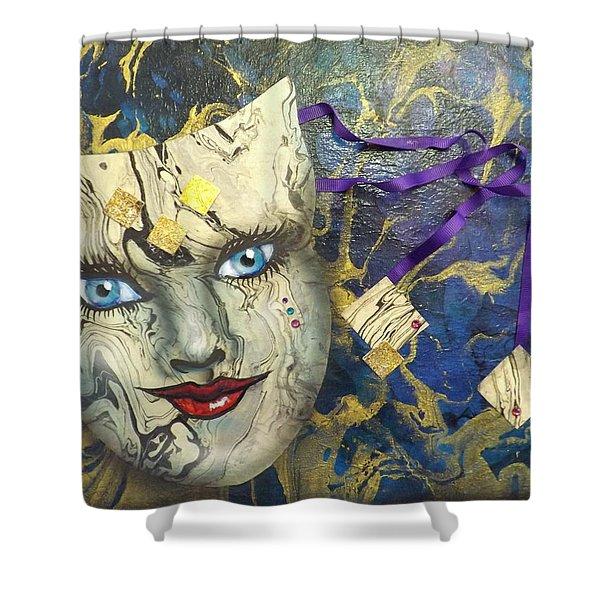 Masquerade Blues Shower Curtain