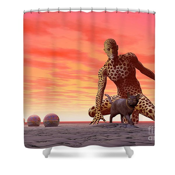 Master And Servant - Surrealism Shower Curtain