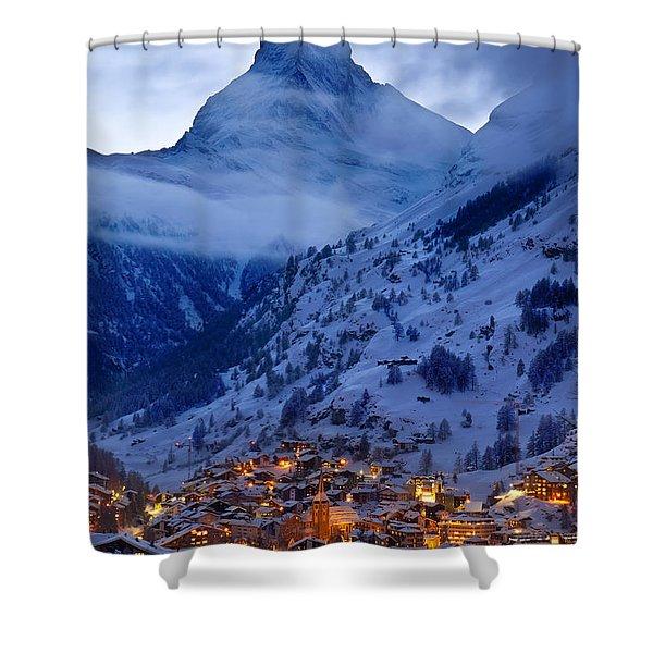 Shower Curtain featuring the photograph Matterhorn At Twilight by Brian Jannsen