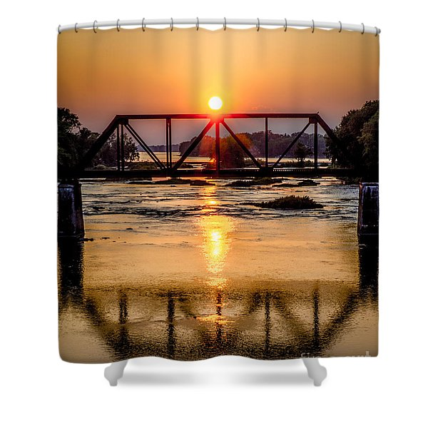 Maumee River At Grand Rapids Ohio Shower Curtain