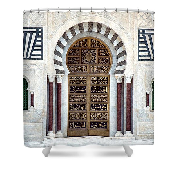 Mausoleum Doors Shower Curtain