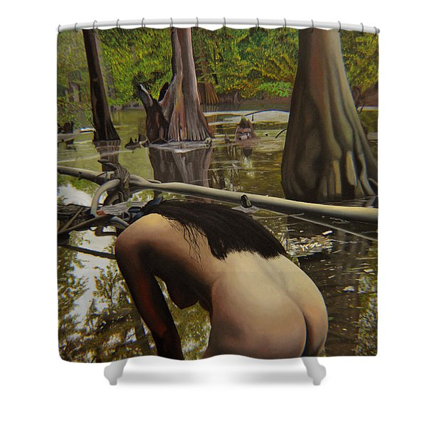 May Morning Arkansas River  2 Shower Curtain