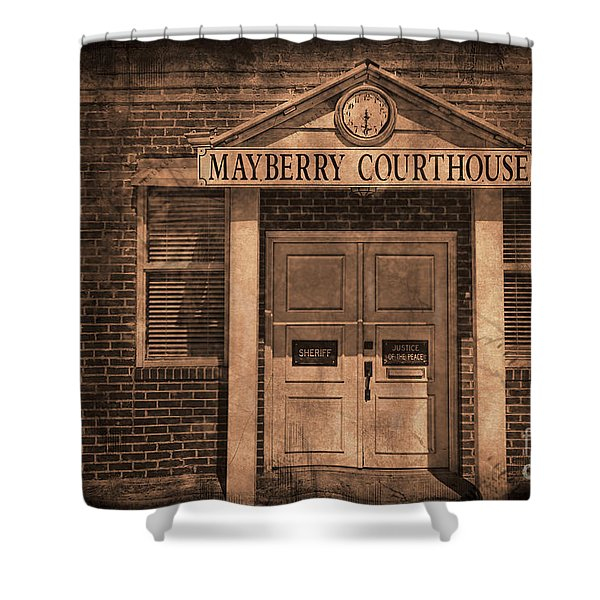 Mayberry Courthouse Shower Curtain