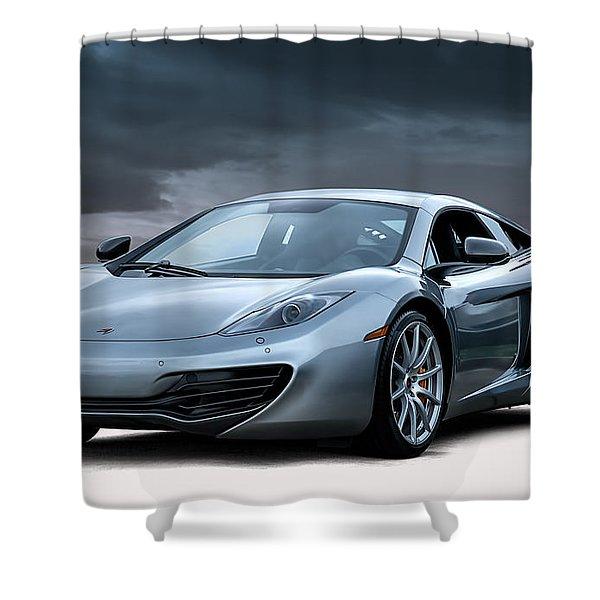Mclaren Mp4 12c Shower Curtain