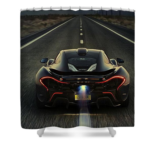Mclaren P1 2014 Shower Curtain
