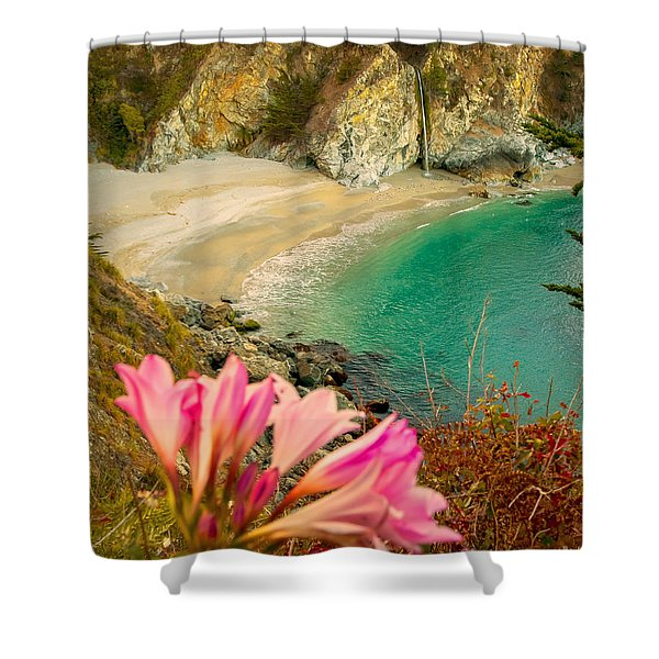 Shower Curtain featuring the photograph Mcway Falls-3am Adventure by David Millenheft