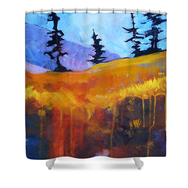Meadow Mountain Shower Curtain