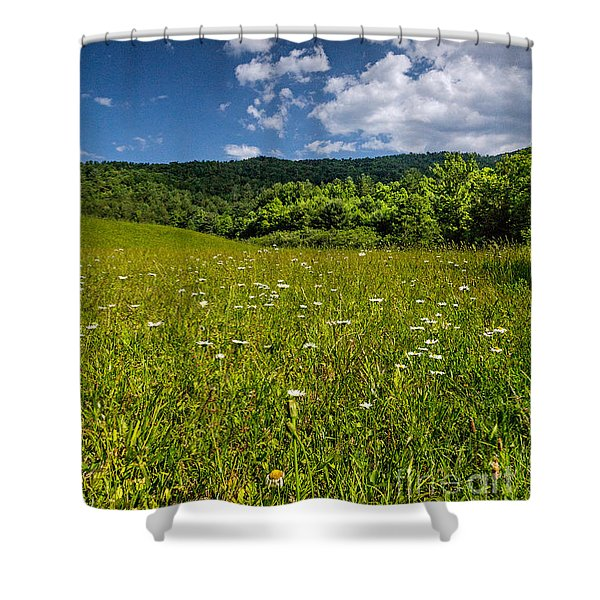 Black Rock Mountains Shower Curtain