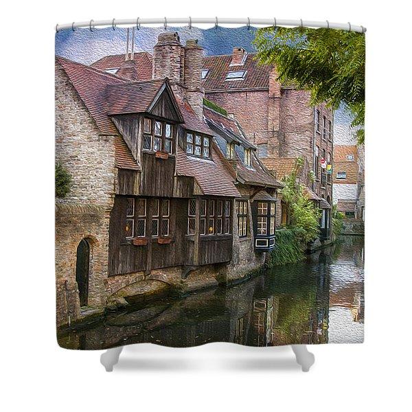 Medieval Bruges Shower Curtain