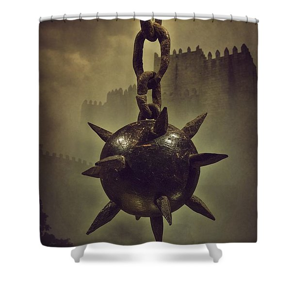 Medieval Spike Ball  Shower Curtain