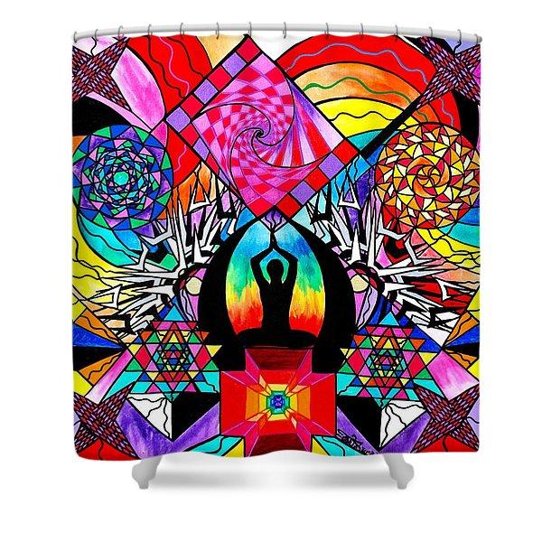 Meditation Aid Shower Curtain