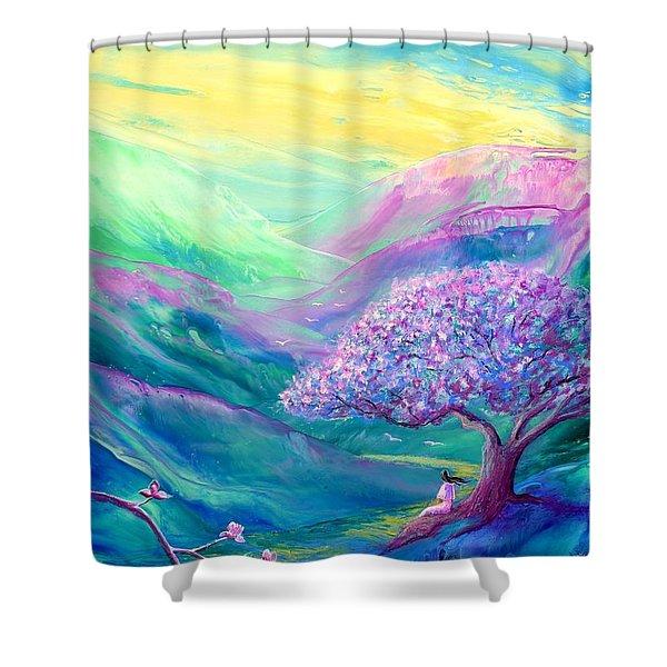 Meditation In Mauve Shower Curtain