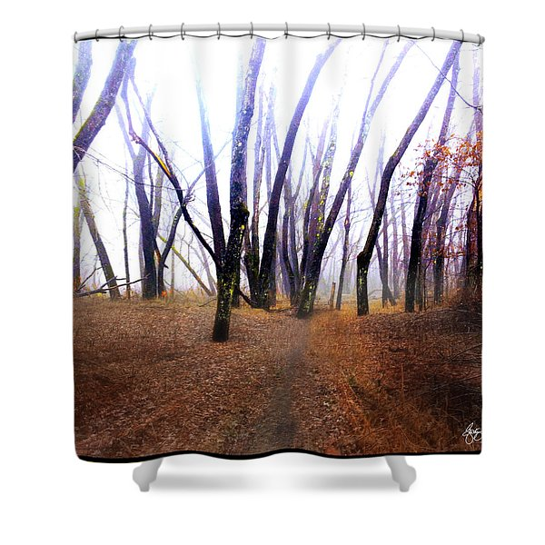Shower Curtain featuring the photograph Meditation On Fear by Wayne King