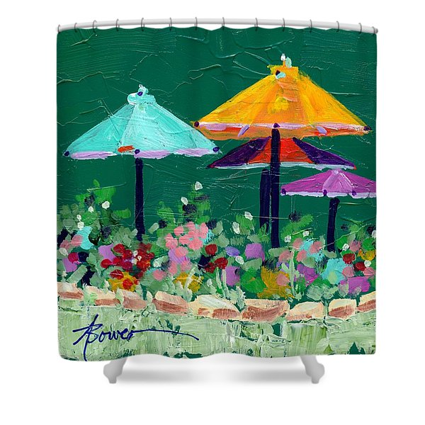 Meet Me At The Cafe Shower Curtain