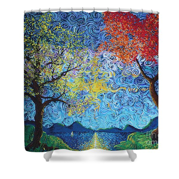 Our Ship Of Dreams Begins To Sail Shower Curtain