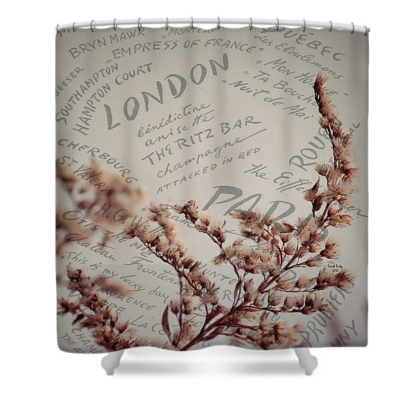 Meet Me In Paris Shower Curtain