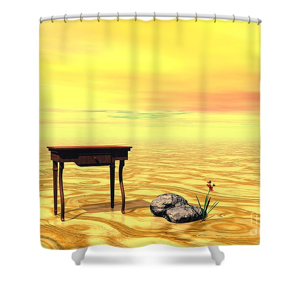 Meeting On Plain - Surrealism Shower Curtain