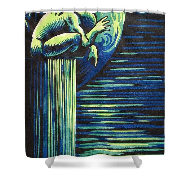 Melancholy Shower Curtain