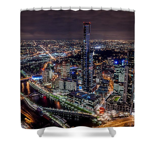 Melbourne At Night IIi Shower Curtain