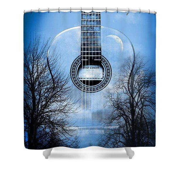 Melody Mystic Night  Shower Curtain