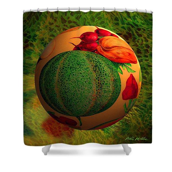 Melon Ball  Shower Curtain