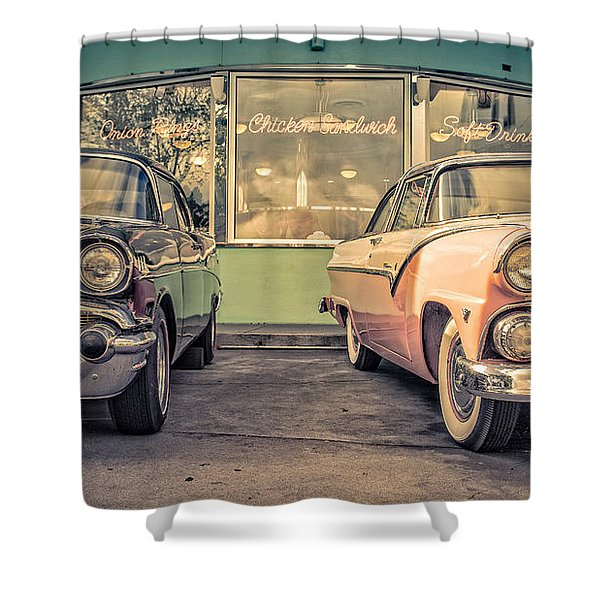 Mel's Drive-in Shower Curtain