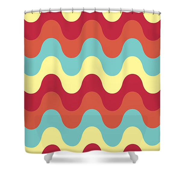 Melting Colors Pattern Shower Curtain