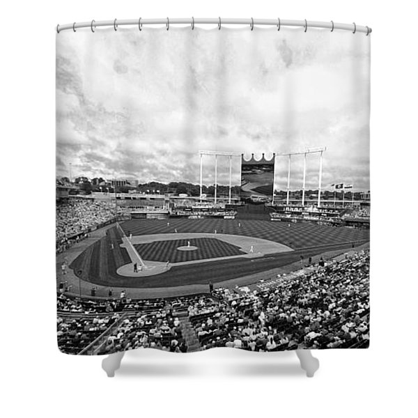 Memorial Day At The K Bw Shower Curtain