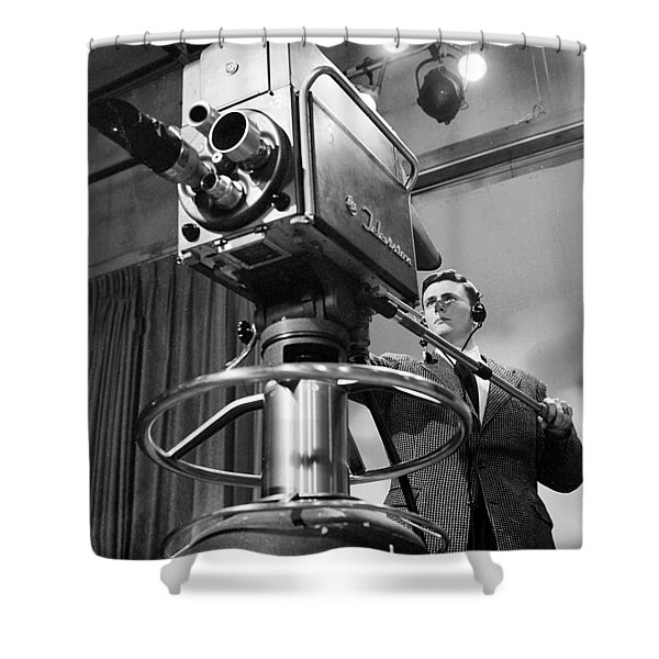Memphis Television - 1956 Style Shower Curtain