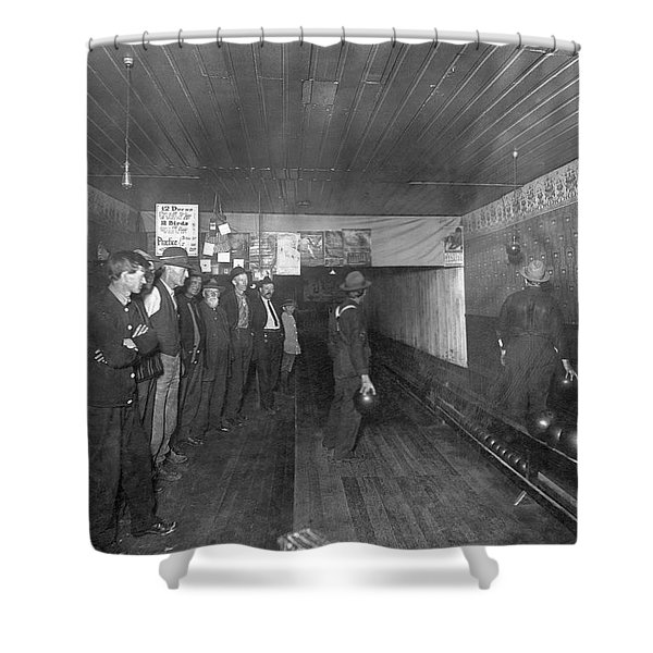 Men Bowling In 1890. Shower Curtain