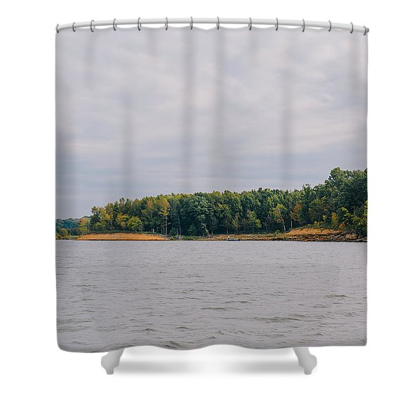 Men Fishing On Barren River Lake Shower Curtain