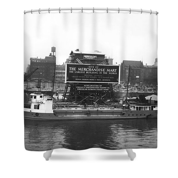 Merchandise Mart Construction Shower Curtain