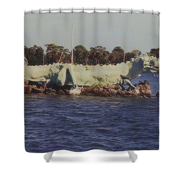 Merritt Island River Dragon Shower Curtain