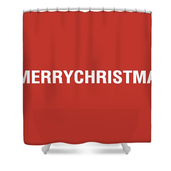 Merry Christmas Hashtag Shower Curtain