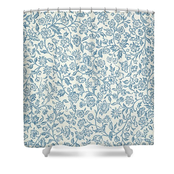 Merton Wallpaper Design Shower Curtain