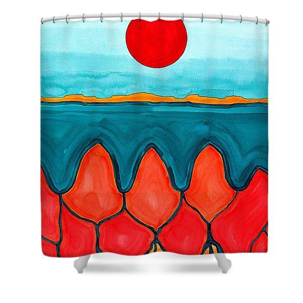 Mesa Canyon Rio Original Painting Shower Curtain