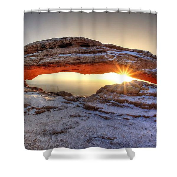Mesa Sunburst Shower Curtain
