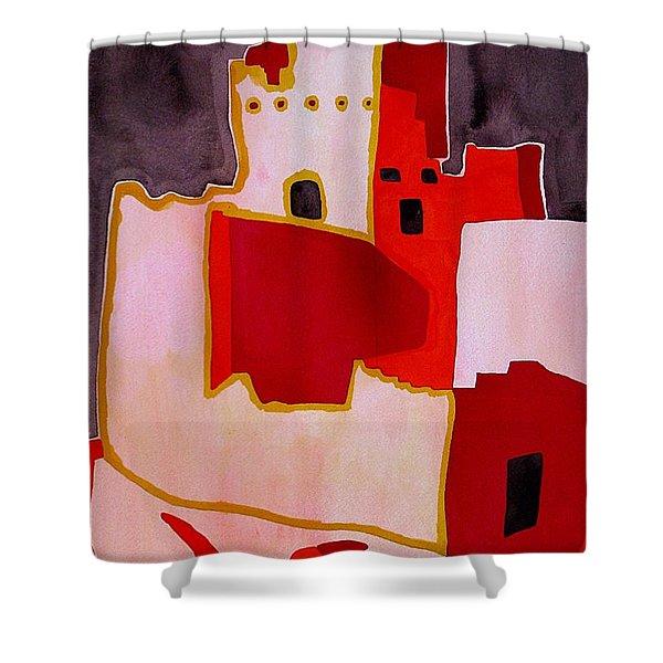 Mesa Verde Original Painting Sold Shower Curtain