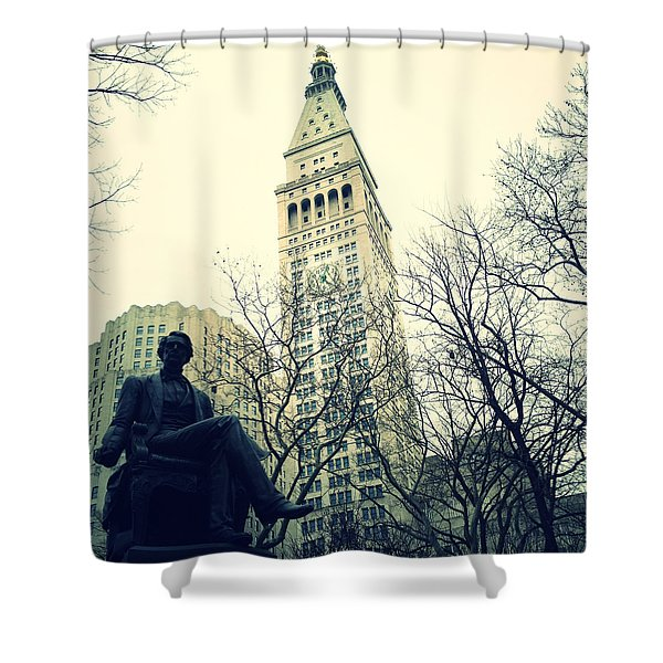 Met Life And Madison Square Park Shower Curtain