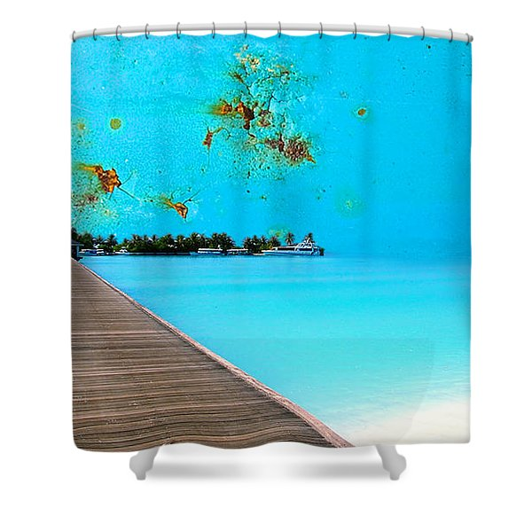 Metalbeach Shower Curtain