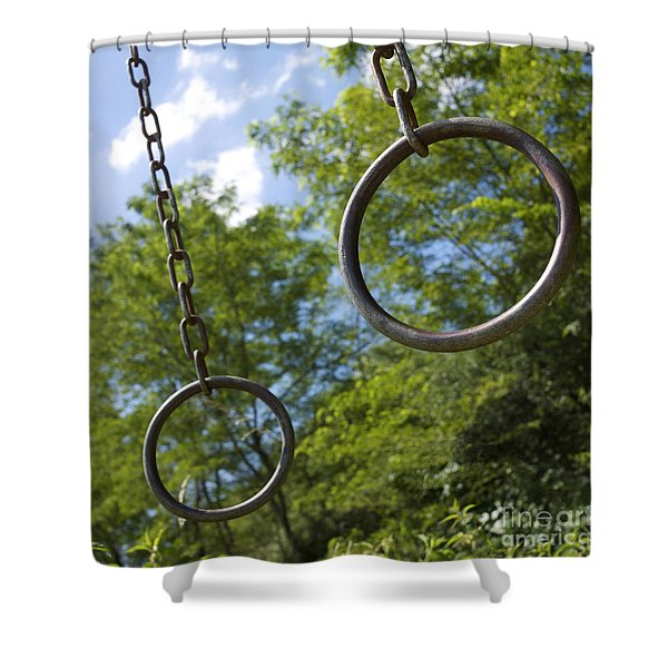 Metallic Rings Shower Curtain