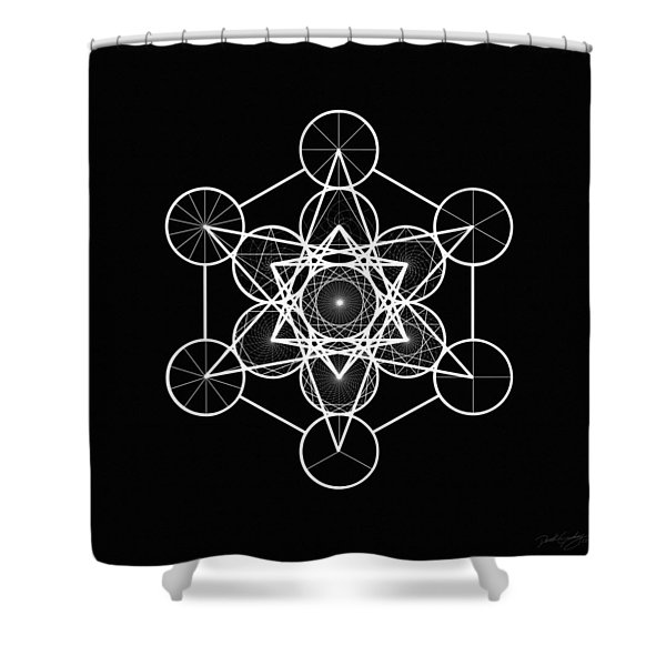 Metatron Wheel Cube Shower Curtain