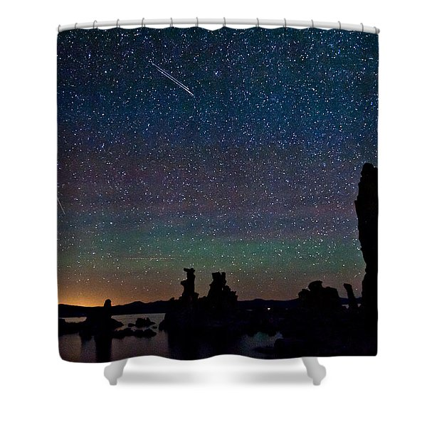 Meteors Over Mono Lake Shower Curtain
