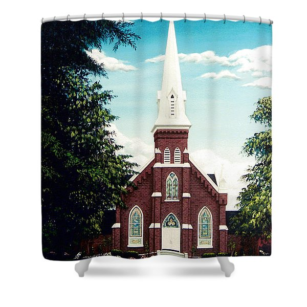 Methodist Church Shower Curtain
