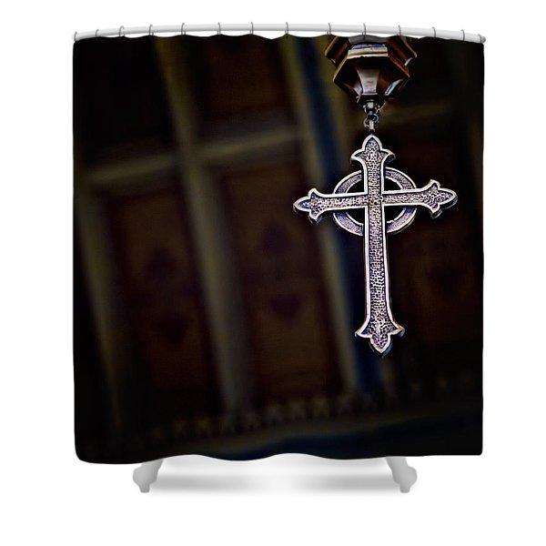 Methodist Jewelry Shower Curtain